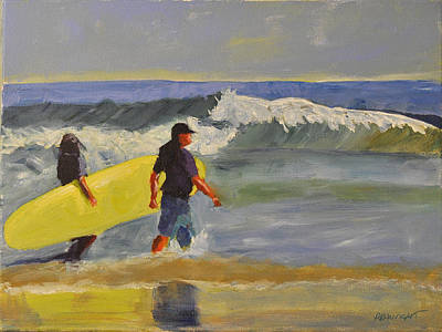 Painting - Longboard by Paulette B Wright