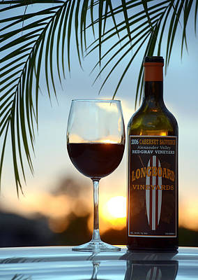 Wines Photograph - Longboard Sunset by Jon Neidert