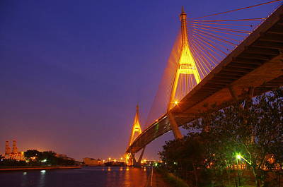 Longest Bridge In Bangkok Art Print by Panitsak Kunwong