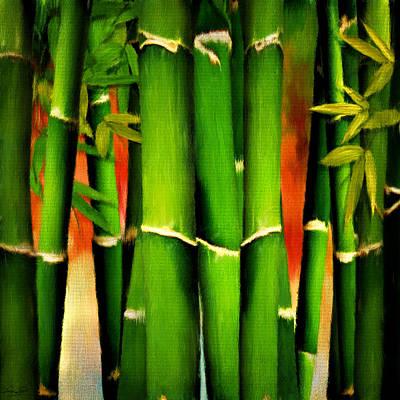 Bamboo Forest Digital Art - Longevity by Lourry Legarde
