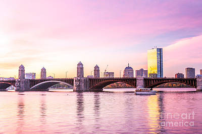 Photograph - Longfellow Bridge At Dawn by Susan Cole Kelly