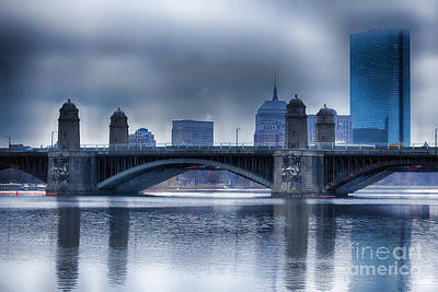 Stone Buildings Photograph - Longfellow Bridge Boston by Douglas Barnard