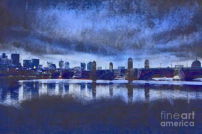 Longfellow Bridge Boston V6 Art Print by Douglas Barnard