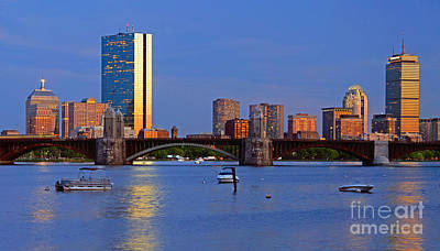 Boston Skyline Panoramic Photograph - Longfellow Bridge by Joann Vitali
