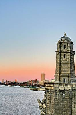 Photograph - Longfellow Bridge Tower by JC Findley