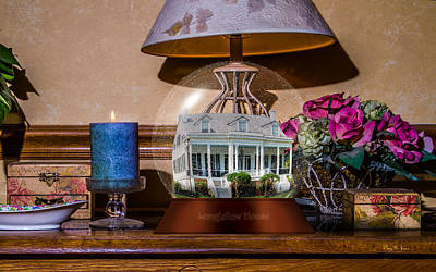 Photograph - Longfellow House Snow Globe by Barry Jones
