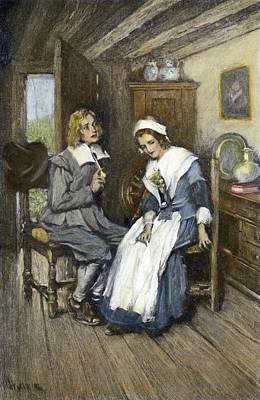 Longfellow Standish, 1886 Art Print by Granger