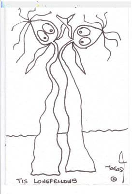 Tisart Drawing - Longfellows by Tis Art