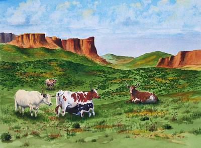 Longhorn Country Art Print