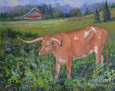 Painting - Longhorn by Jana Baker