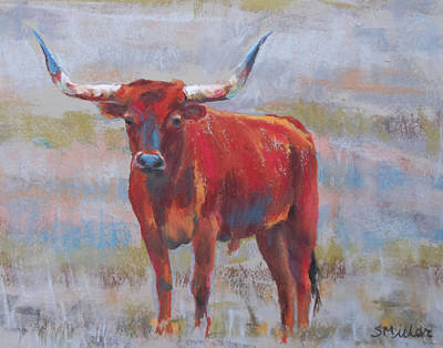 Painting - Longhorn  by Sylvia Miller