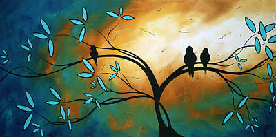 Bird Painting - Longing By Madart by Megan Duncanson