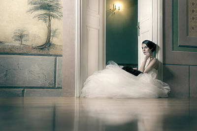 Wedding Dress Photograph - Longing by Piotr Werner
