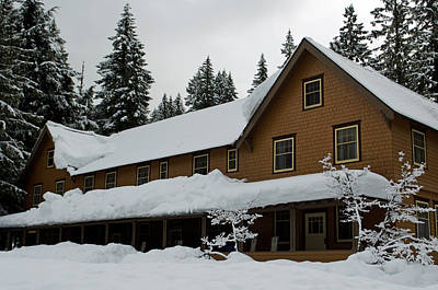 Photograph - Longmire Inn   Winter 2013 by Tikvah's Hope