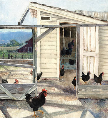Painting - Longmont Henhouse by Anne Gifford