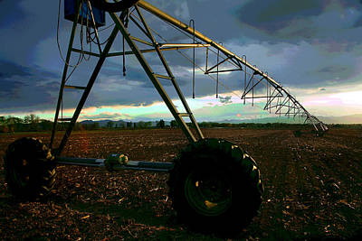 Crop Rotation Wall Art - Photograph - Longmont Irrigation by Mike Flynn