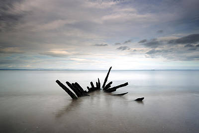 Photograph - Longniddry Ship Wreck by Grant Glendinning