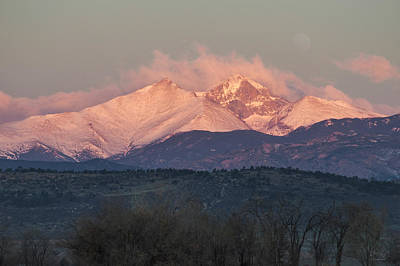 Photograph - Longs Peak 1 by Aaron Spong