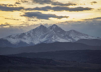Longs Peak 3 Art Print by Aaron Spong