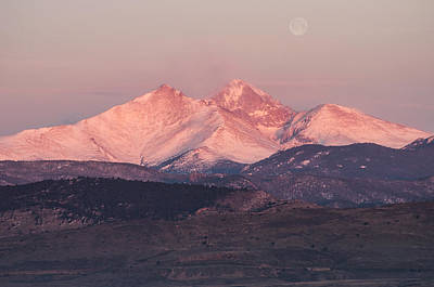 Longs Peak 4 Art Print by Aaron Spong