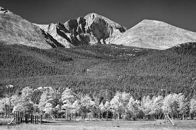 Photograph - Longs Peak A Colorado Playground In Black And White by James BO Insogna