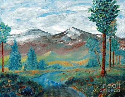 Painting - Longs Peak And Mt. Mitchell by Stephen Schaps