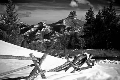 Photograph - Long's Peak And Split Rail Fence Estes Park Colorado by Roger Passman
