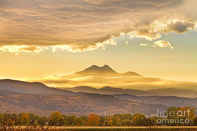 Photograph - Longs Peak Autumn Sunset by James BO  Insogna