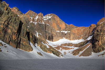 Photograph - Longs Peak From Chasm Lake by Alan Vance Ley
