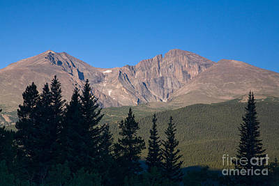 Photograph - Longs Peak From Wind River Ranch by Fred Stearns