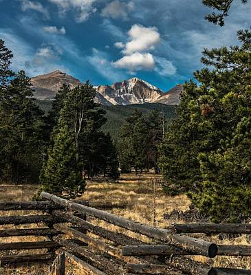 Animals And Earth Photograph - Longs Peak by Garett Gabriel