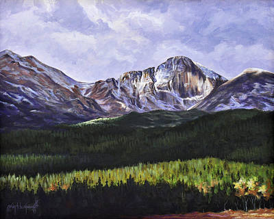 Painting - Longs Peak Glowing by Craig T Burgwardt