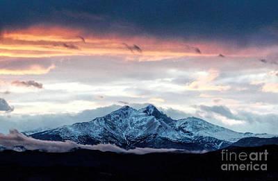 Photograph - Longs Peak In Winter by Jon Burch Photography