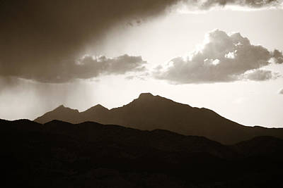 Raining Photograph - Long's Peak by Marilyn Hunt
