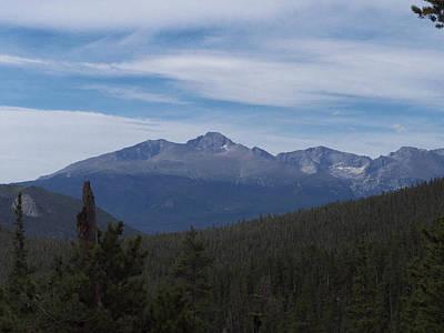 Photograph - Longs Peak Meeker Peak Massive by Thomas Samida