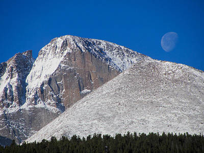 Photograph - Long's Peak Moon by Peter Skiba
