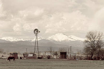 Photograph - Longs Peak Old Country View by James BO Insogna