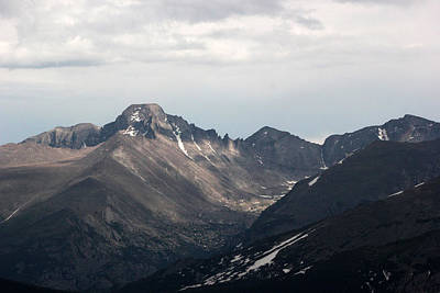 Photograph - Long's Peak Rocky Mountains by Mary Bedy