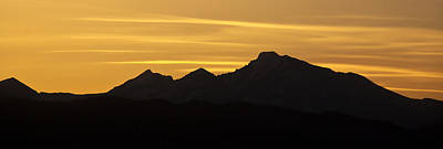 Photograph - Longs Peak Silhouette by Marilyn Hunt