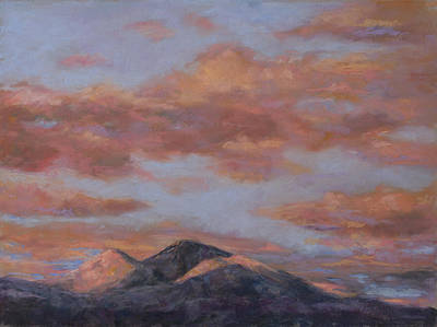 Painting - Longs Peak Sunrise by Billie Colson
