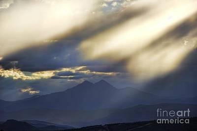 Longs Peak Through Smoke Original by Jon Burch Photography