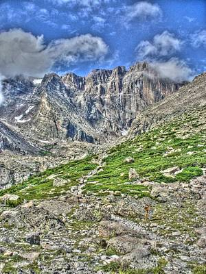 Chasm Lake Photograph - Longs Peak Trail by Twain and Denise Wilkins