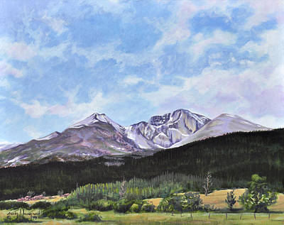 Painting - Longs Peak Vista by Craig T Burgwardt