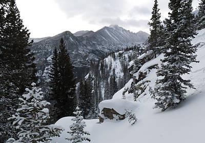 Photograph - Long's Peak Winter by Cascade Colors