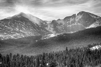 Photograph - Longs Peak Winter View Bw by James BO  Insogna