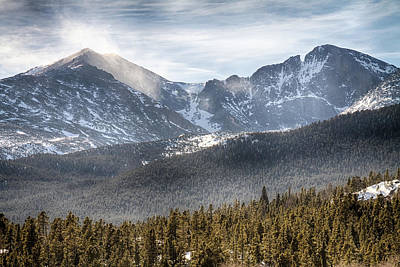 Photograph - Longs Peak Winter View by James BO Insogna