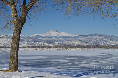 Photograph - Longs Peaks Winter Landscape View by James BO Insogna