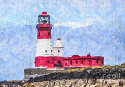 Digital Art - Longstone Lighthouse by Liz Leyden