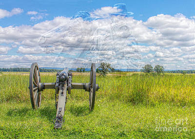 Longstreet Returns To Gettysburg Art Print by Randy Steele