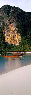 Longtail Wall Art - Photograph - Longtail Boat In Ton Sai Bay, Phi Phi by Panoramic Images